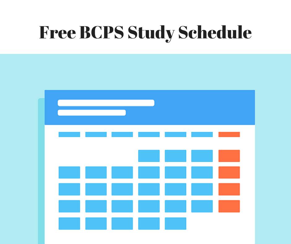 bcps study schedule