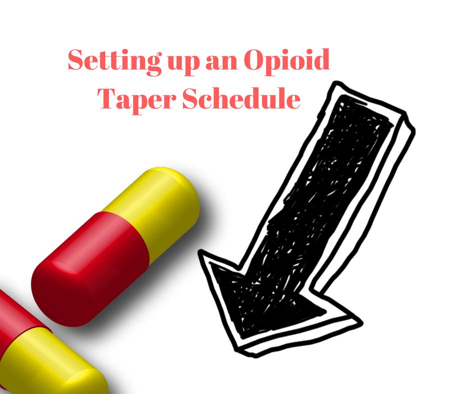 opioid taper schedule