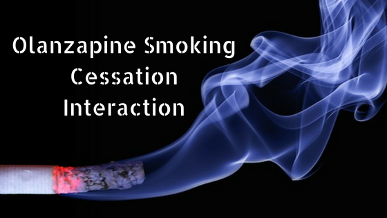 olanzapine smoking cessation interaction