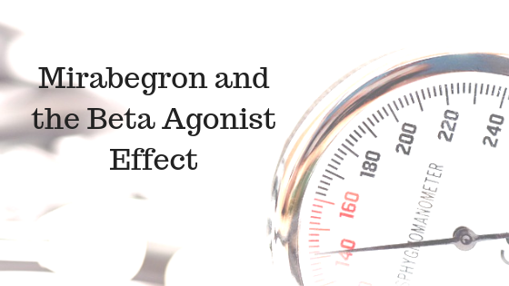 Mirabegron can raise blood pressure through its beta agonist activity
