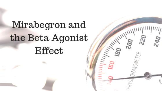 Mirabegron can raise blood pressure through its beta agonist activity
