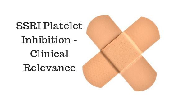 SSRI Platelet Inhibition