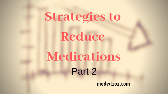 Reduce Medications